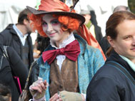 Person dressed as the Mad Hatter