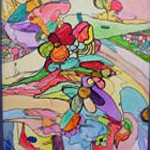 "Image of painting from ""Healing Nature of Art"" exhibit. links to more images from the show"