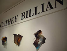 Photo of artist's name , Cathy Billian,on the east wall