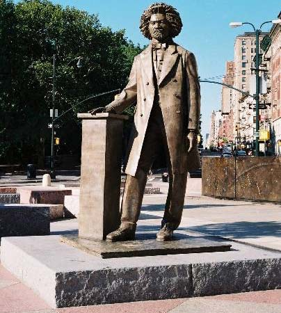 Frederick Douglass sculpture, Frederick Douglass Circle at 110th Street and Eighth Avenue in Manhattan