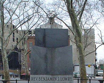 "Photo of ""Reverend Benjamin Lowry"" sculpture"