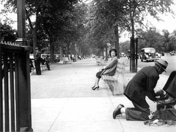 Shoe Shine, Eastern Parkway, Brooklyn, June 10, 1938