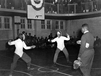 Fencing Contest, Hansborough Recreation Center, Manhattan, January 6, 1940