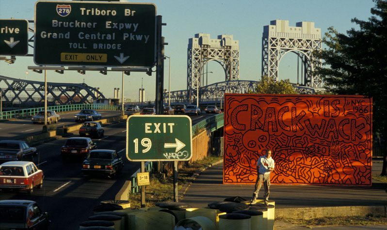 Remembering keith haring nyc parks for Crack is wack keith haring mural