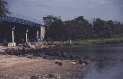 Photograph of the Belt Parkway Bridge reconstruction area