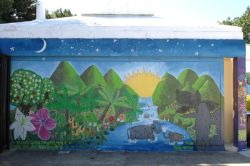 Mural in Claremont Park pool