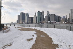 Winter Snow at Brooklyn Bridge Park