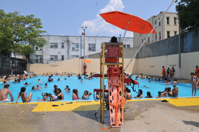 Fisher Pool Outdoor Pools Nyc Parks