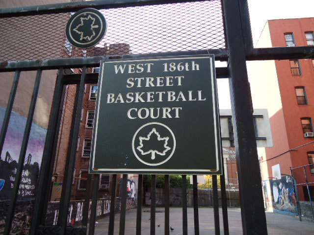 West 186th Street Basketball Court Highlights Nyc Parks