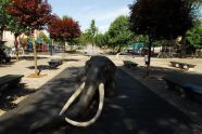 Mastodon Sculpture in Sutphin Playground
