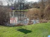 Thin Ice sign - Silver Lake golf course
