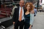 Parks Commissioner Adrian Benepe and Actress Bernadette Peters