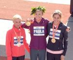 The top three female runners