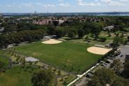 Aerial view, Soundview Park, Bronx