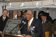 Charlie Rangel welcomes the crowd