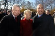 Former Councilman Peter Vallone, Queens Borough President Helen Marshall, and Comptroller William C. Thompson, Jr.