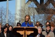 Kerry Kennedy, daughter of Robert F. Kennedy, makes her remarks at the ceremony