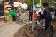 Parks Commissioner, Treetures, and P.S. 234 plant a tree for MillionTreesNYC