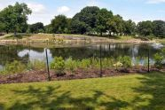 The restored lake in Crotona Park