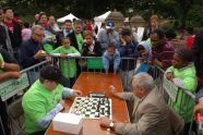 International Master Yury Lapshun plays a round of speed chess