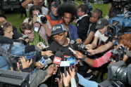 Spike Lee speaks to the press