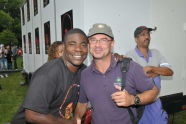 Tracy Morgan and Parks Commissioner Adrian Benepe