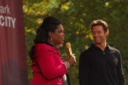 Oprah and Hugh Jackman