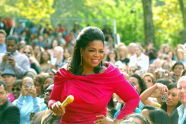 Oprah in the crowd