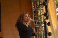 Mariah Carey performs for the crowd