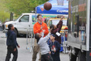 Basketball at the Knicks Groove Truck