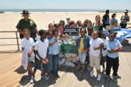 Schoolchildren at the Rockaway Beach Opening