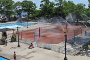 Spray Shower Feature at Lyons Pool