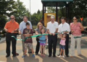 Cutting the Ribbon at the Drumgoole Tot Lot
