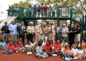 Ribbon Cutting at Campanaro Playground
