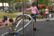 Testing Play Equipment at Ciccarone Playground