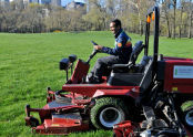 First Mow at Central Park's Sheep Meadow