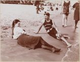 Swimming Instructor and Bather, Midland Beach, Staten Island, 1898,