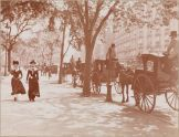 Women Walking, Hansom Cabs, Madison Square Park, Manhattan, 1901