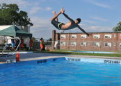 Diving in to Fort Totten Pool