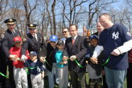 Cutting the Ribbon on a New Baseball Field at Highbridge Park