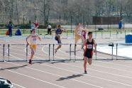 High school competitors at the PSAL season opening meet