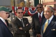 Woody Johnson, Adrian Benepe, Ed Lewis, and Charles Rangel