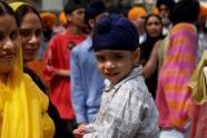 A child at the Sikh parade