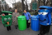 Relaxing with the Sanitation mascots