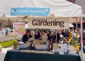 An organic gardening display