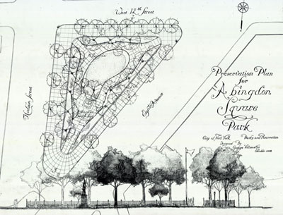 Plan for the reconstruction of Abingdon Square