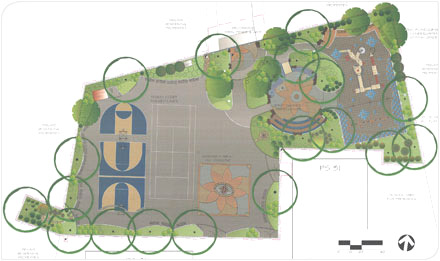 image of the reconstruction plan for Davis Park