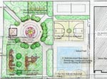 Thumbnail image of the plan for the reconstruction of Hollis Playground. Links to the Capital Project of the month for July 2004
