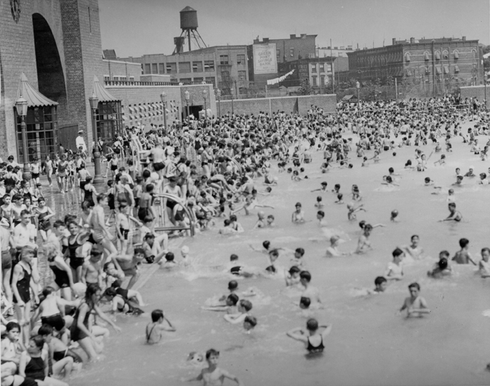1937 Shot of McCarren Park Pool