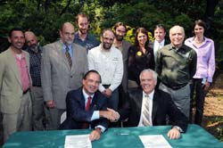 Signing of the New York City Native Plant Conservation Initiative